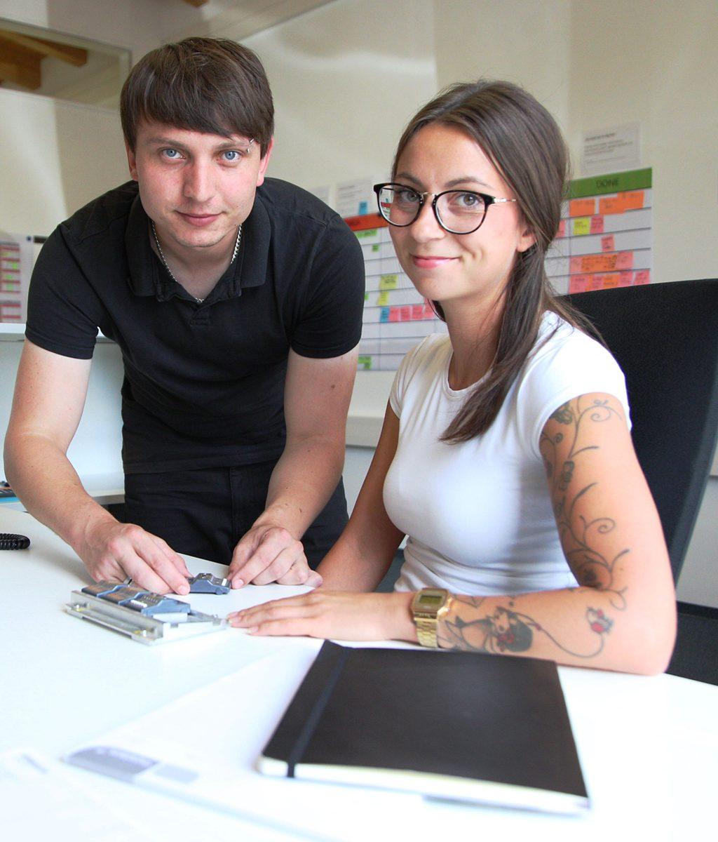 René Böttinger und Isabell Brückmann, Häcker Automation GmbH