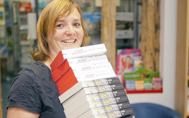 Frau Claudia Stapp, Inhaberin, Buchhandlung Buch Stapp